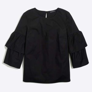 J. Crew mercantile tiered bell sleeve ruffle top